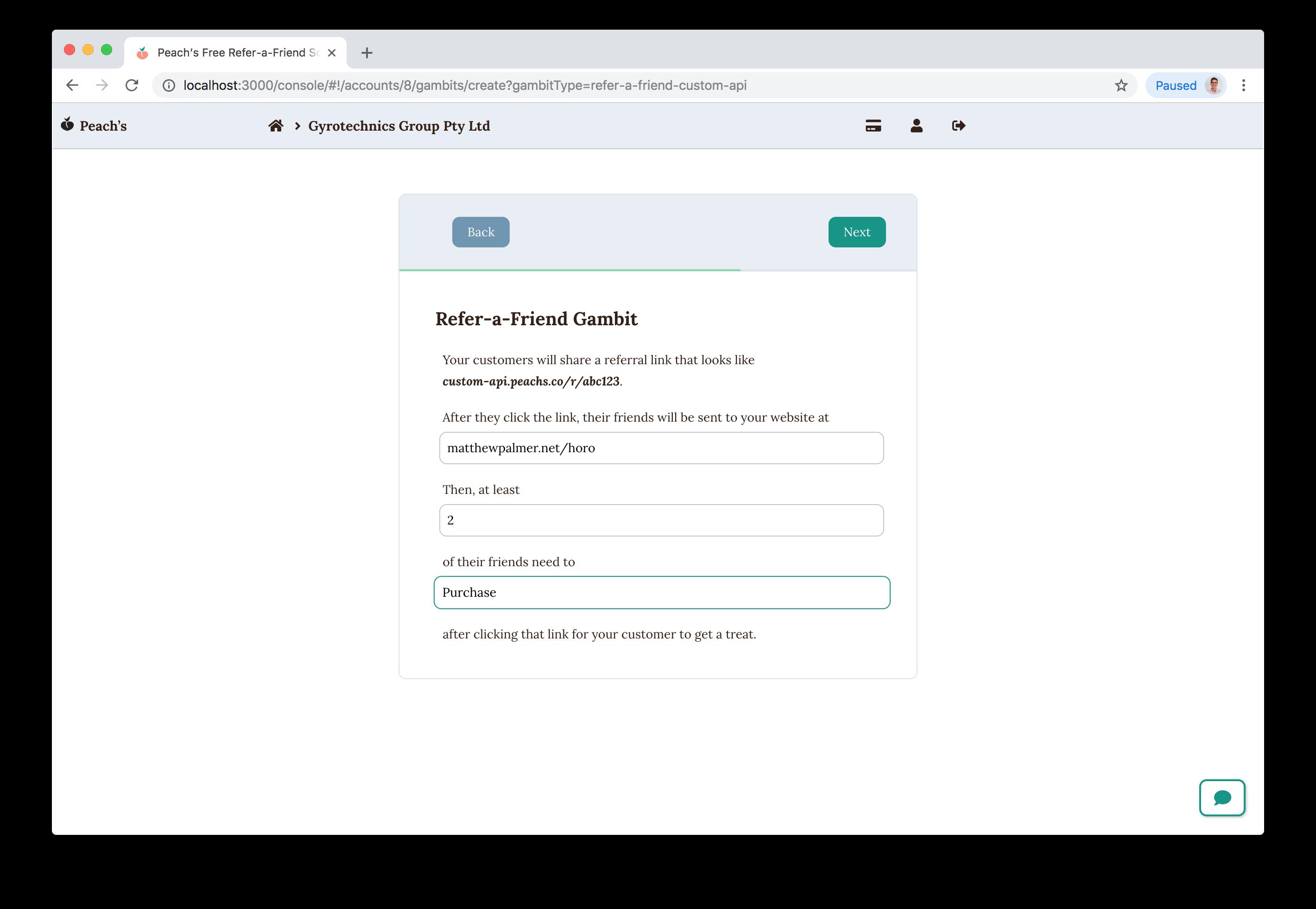 Documentation for API Integrations - Peach's Refer-a-Friend